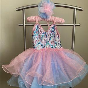 Girl ballet dress and matching hair pin
